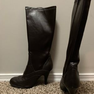 Vintage Unlisted Dark Brown Calf Hight Boot